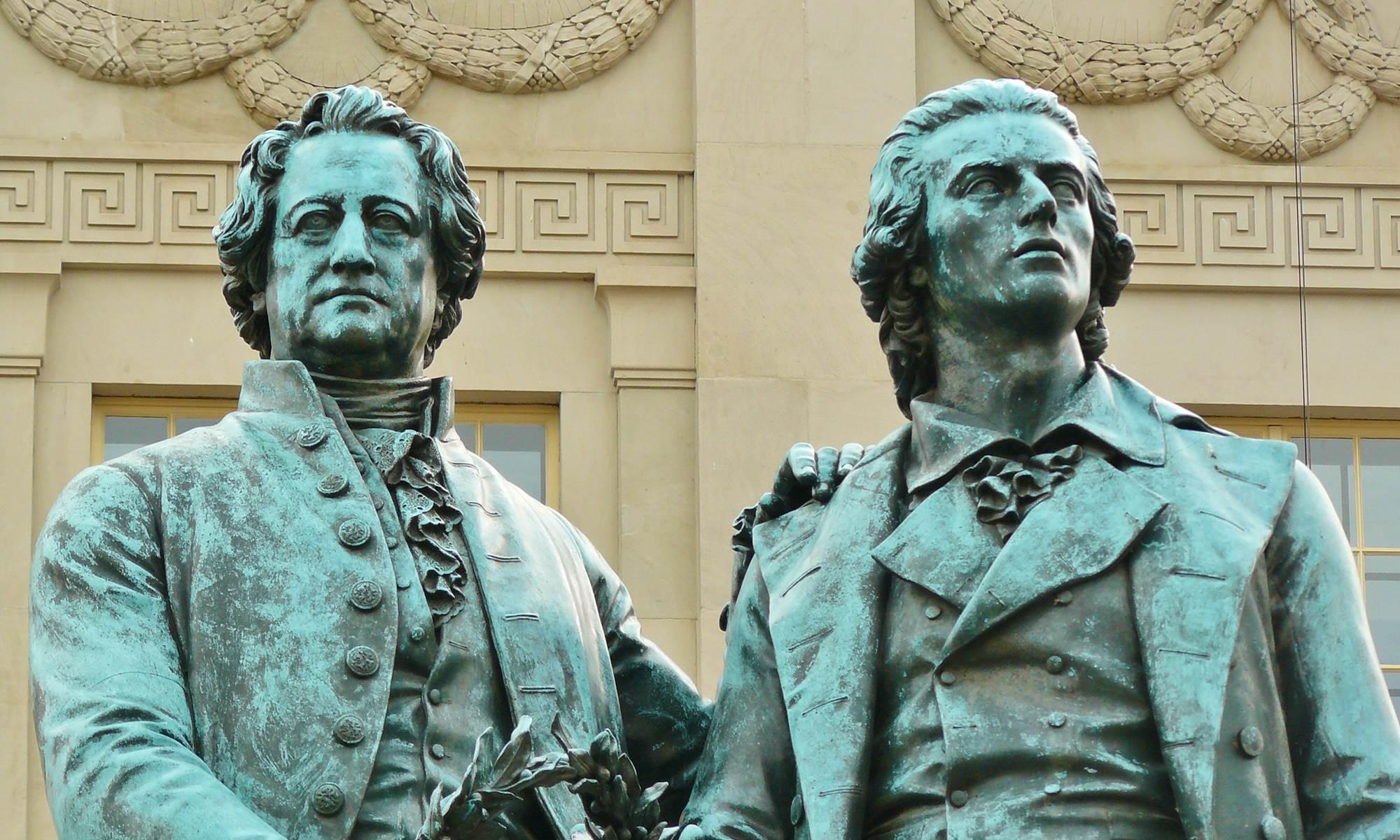 Goethe und Schiller – Denkmal in Weimar | Wohlauf! – Lasst die Spiele beginnen!
